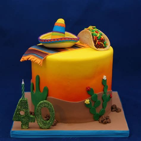 Mexican Sombrero, Poncho & Taco Cake     Cake in Cup NY
