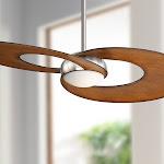 """52"""" Innovation Koa Brushed Nickel LED Ceiling Fan - Style # 38P12"""