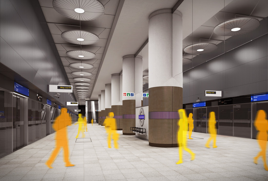 Woolwich Station - architects impression image of Crossrail station_147933
