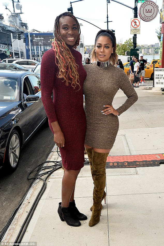 Similar ensembles: Venus posed up a storm with La La Anthony