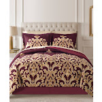 Fairfield Square Collection Amalanta Reversible 8-Pc. Comforter Sets - Red