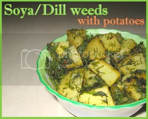 Soya/Dill Weeds with potatoes