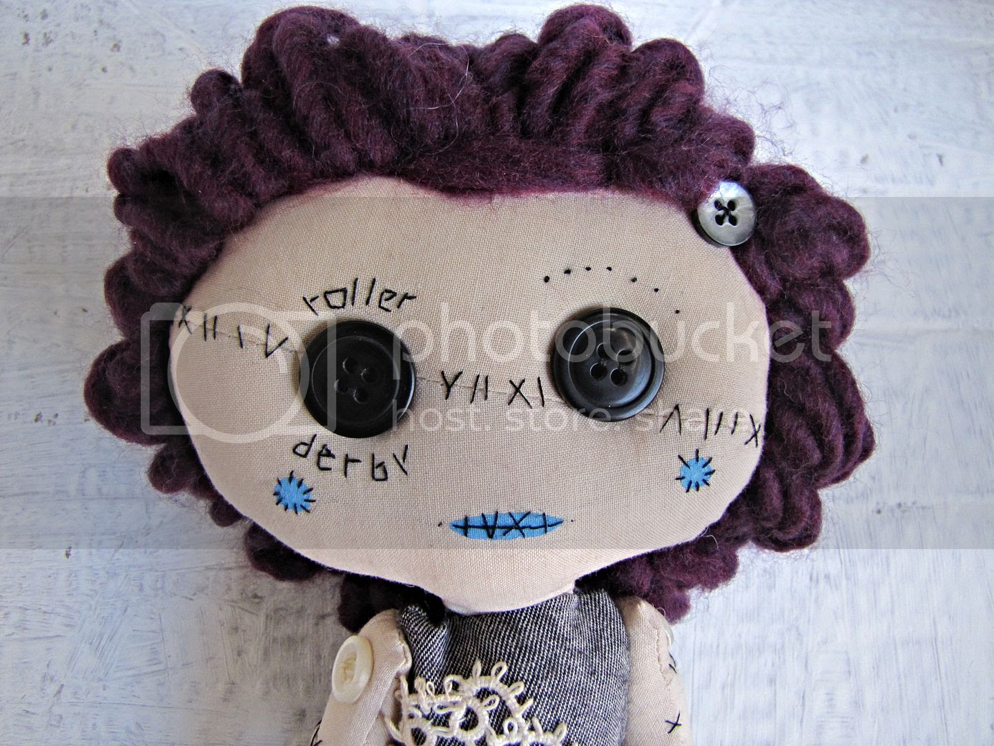 roller derby handmade doll by Indietutes photo 64190720-f870-4a1a-9a30-5e502549c375.jpg