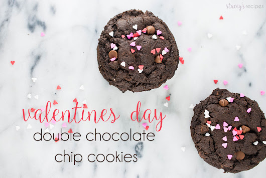 Double Chocolate Valentines Day Cookies - Stacey's Recipes