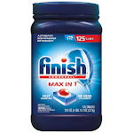 Finish Powerball Max in One Dishwasher Detergent Tablets, 125-count