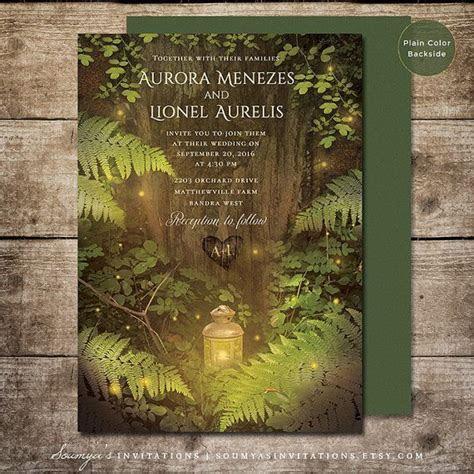 Enchanted Forest Fairy Tale Wedding Invitation, Summer