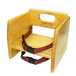 Winco CHB-701 - Natural Stacking Booster Seat
