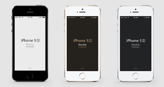 iPhone 5S Psd Vector Mockup | Psd Mock Up Templates | Pixeden