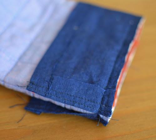 padded bag - edgestitched drawstring casing