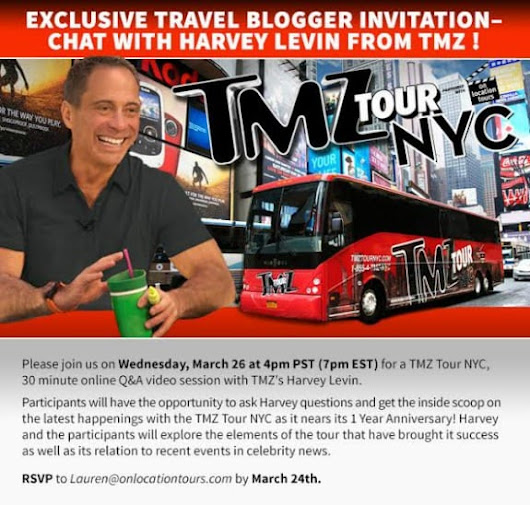 Travel Bloggers:  You're Invited to Chat with Harvey Levin