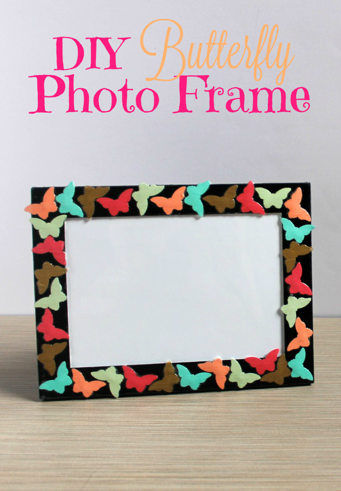 Diy Butterfly Photo Frame Mothers Day Gift Ideas Outnumbered 3 To 1