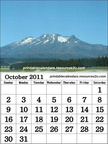 R35 Free October 2011 Calendar wallpaper