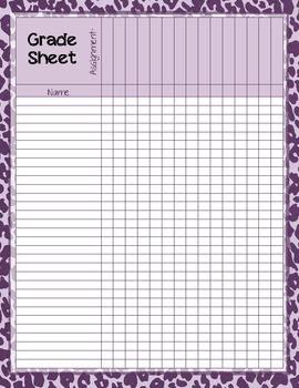 Printable Grade Sheet - Scalien