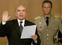 Pedro  Carmona, presidente de facto durante el golpe de estado contra Chávez  en 2002