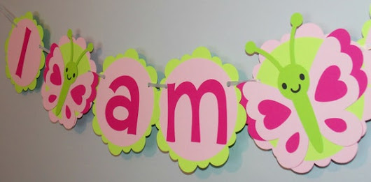 I am one first birthday butterfly spring banner/ Spring Baby Shower Banner/ Spring Banner/ Bug Banner/ Birthday Banner/Girl Birthday Banner