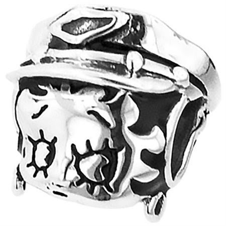 "Personality jewelry collection Sterling Silver ""Betty Boop"" Enamel Motorcycle Bead"