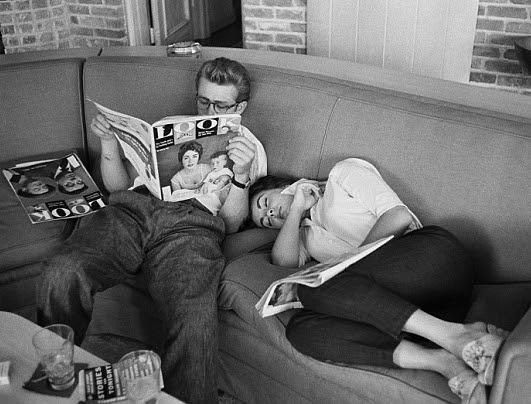 "Liz Taylor and James Dean on ""Giant"" set 1955 8 Liz Taylor and James Dean on ""Giant"" set, 1955"