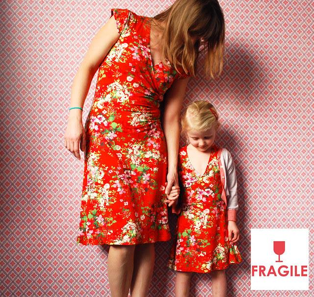 Fragile kleedjes voor groot en klein