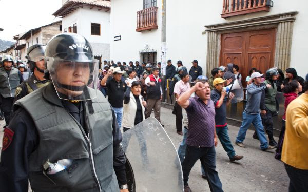 Cajamarca, Celendín, Protestas antimineras, Proyecto Conga, Estado de emergencia en Cajamarca