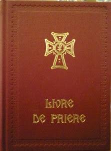 Couverture livre de prière