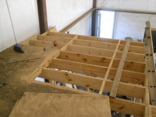 More Barn Loft Floor Joists on Back Section