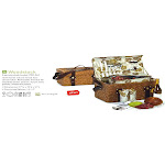 CC Home Furnishings Sublime Handcrafted 2-Person Woven Willow Picnic Basket Set with Accessories