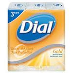 Dial Clean And Refresh Antibacterial Deodorant Bar Soap, Gold - 3 Bars Per Pack(4 Oz Each)