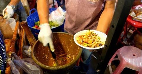 Gỏi xoài ba khía đặc sản Thái Lan Thailand Streetfood