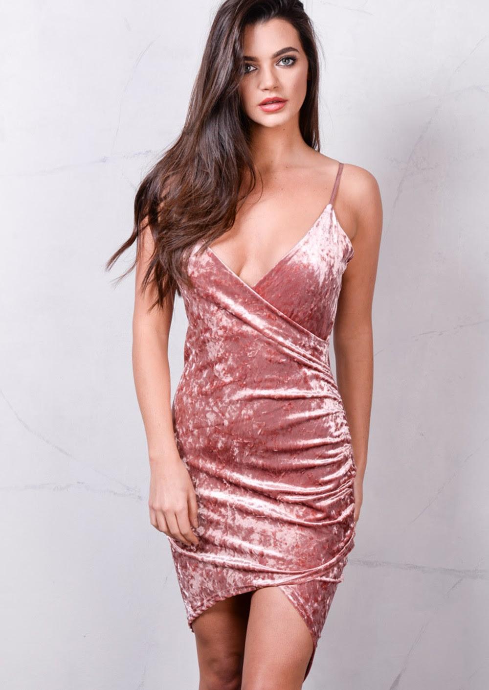 Baker dublin pink velvet bodycon dress asos trends