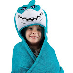 Comfy Critters Seymour the Shark Blanket, Teal/White