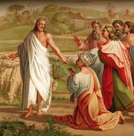 Our Lord Jesus Christ gives the Keys to Peter: Thou art Peter, and upon this rock I shall build my Church