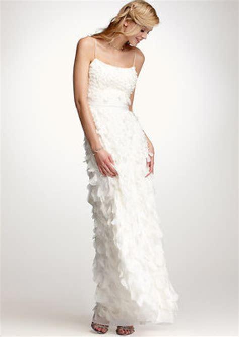 Ann Taylor Rose Petal Spaghetti Strap Wedding Dress