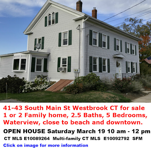 Westbrook Open House 41 S Main St Saturday March 19 10 am - 12 pm