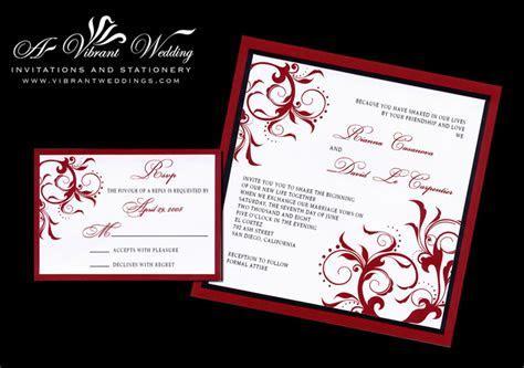 Black and red wedding invitation ? A Vibrant Wedding