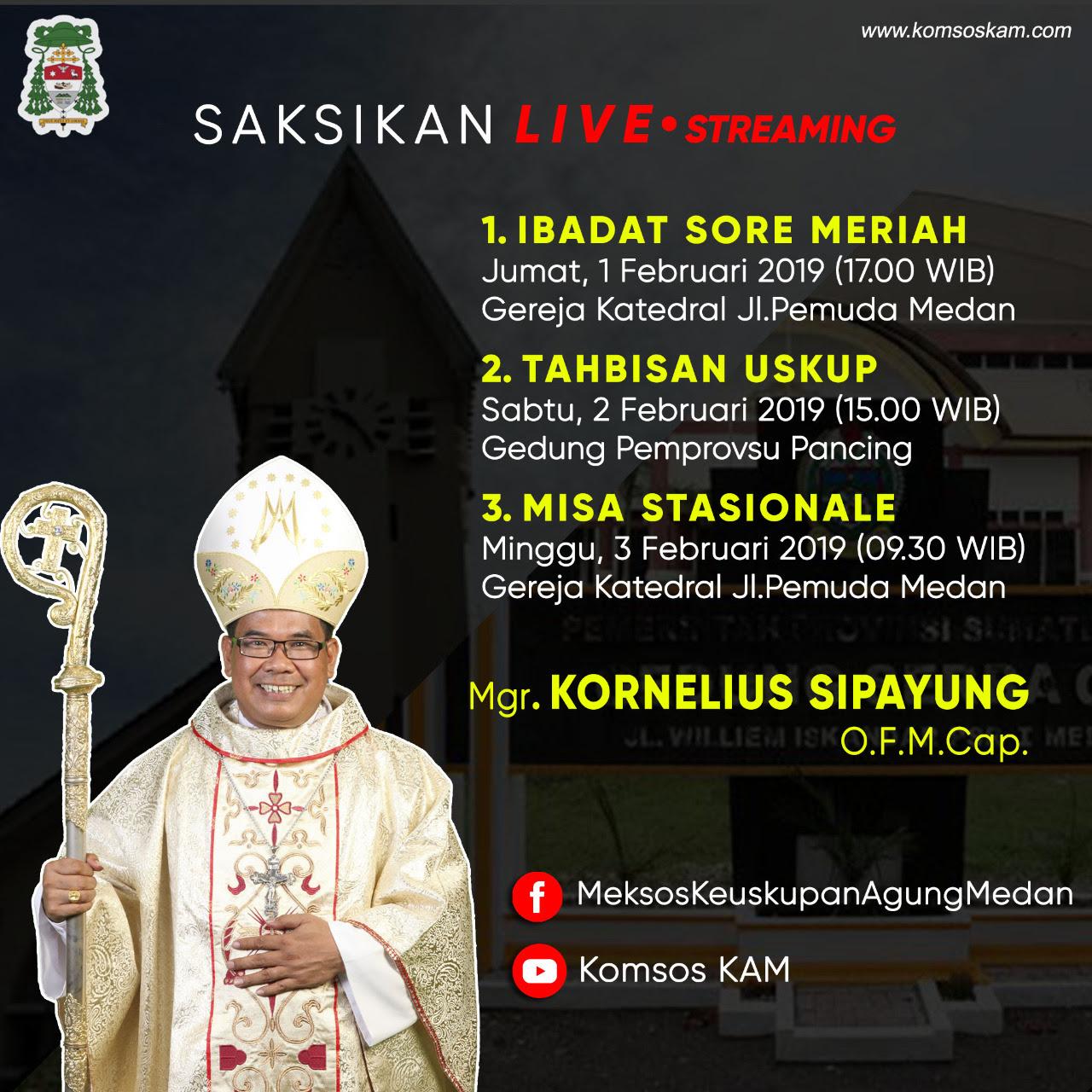 Prosesi Tahbisan Uskup Mgr. Kornelius Sipayung OFMCap