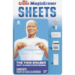 Mr. Clean Magic Eraser Cleaning Thin Sheets, Great for Cleaning Greasy Stove Tops and Tough Stains in Microwaves, White