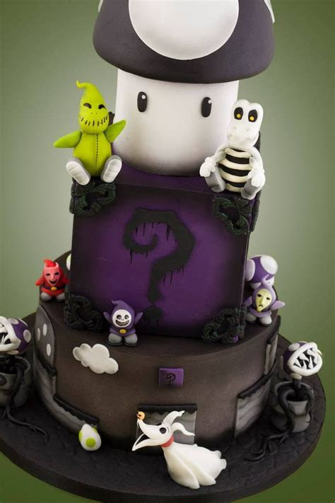Nightmare Before Christmas x Mario Bros Wedding Cake