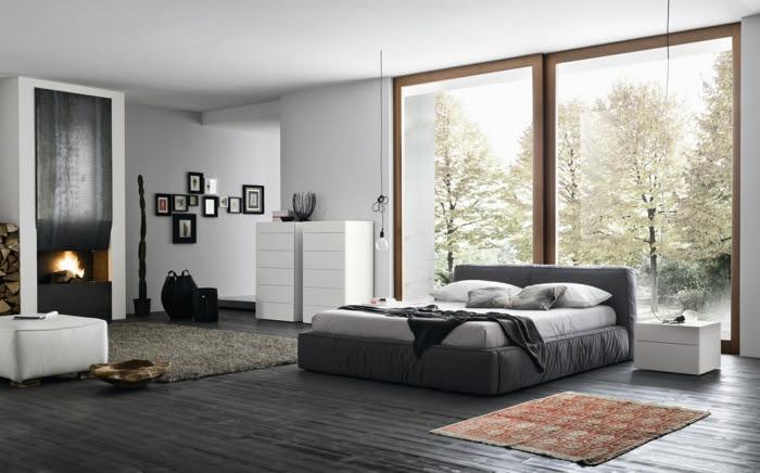 Kaminofen dormitorio juego de dormitorio decoración de dormitorios modernos Wohnideen
