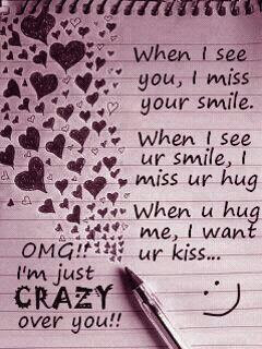 I Go Crazy When I See You Smile Quotespicturescom