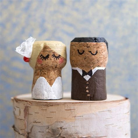 You HAVE To See These DIY, Painted Champagne Cork Bride