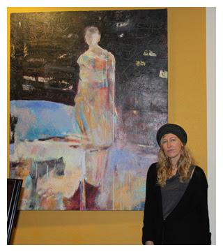 Artist Helen Steele at Room Interior Art Gallery : Art Walk : January 14, 2011