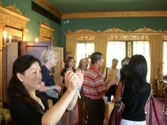Xiamen, China delegation at the John & Mabel Ringling Museum of Art during events in Sarasota in October 2007 to finalize the establishment of a Sister City relationship between Sarasota and Xiamen