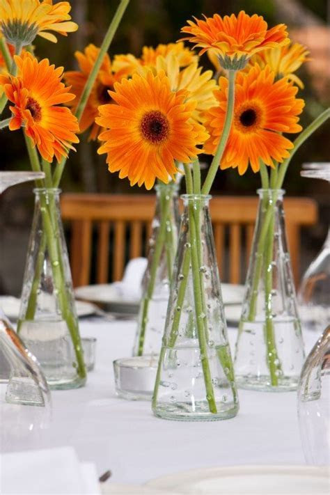{diy Projects} Gerbera Daisy Centerpieces