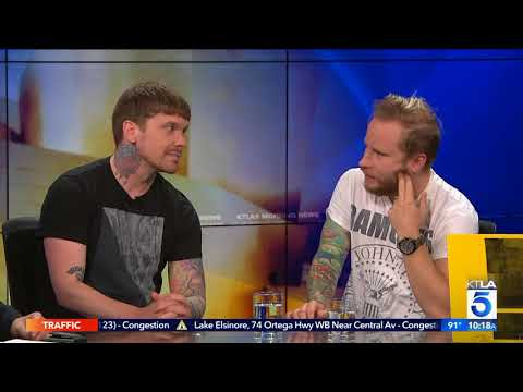 "Brent Smith and Zach Myers Talk New Album ""Attention Attention"" at KTLA, channel 5 in Los Angeles, CA"