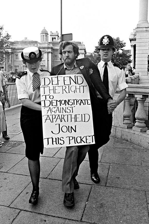 Jeremy Corbyn with Placard
