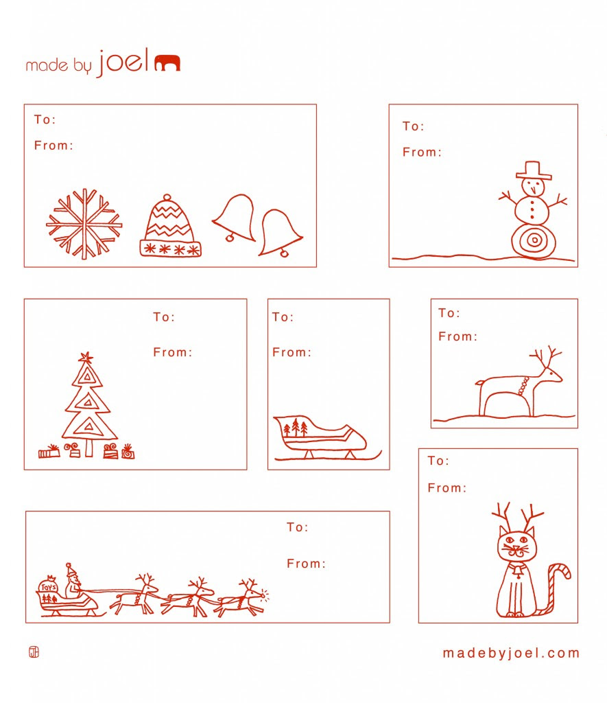 Made by Joel » Holiday Gift Tag Templates