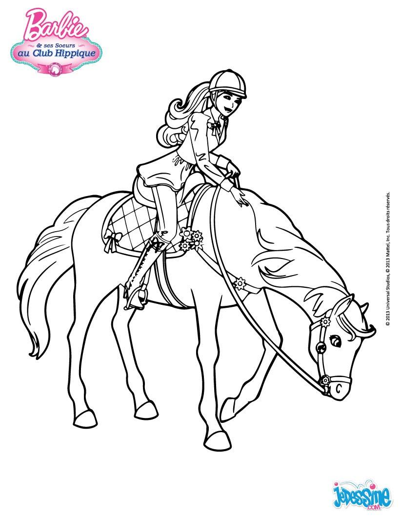 Barbie championne d équitation