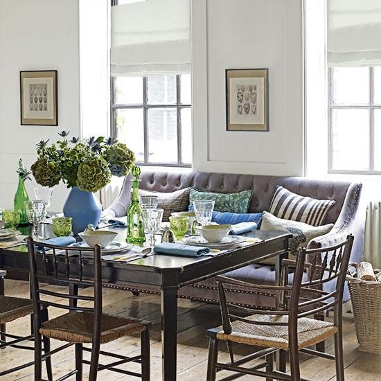 White dining room with sofa | Decorating | housetohome.co.uk