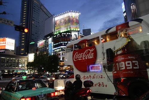 Coca-cola bus in Shibuya