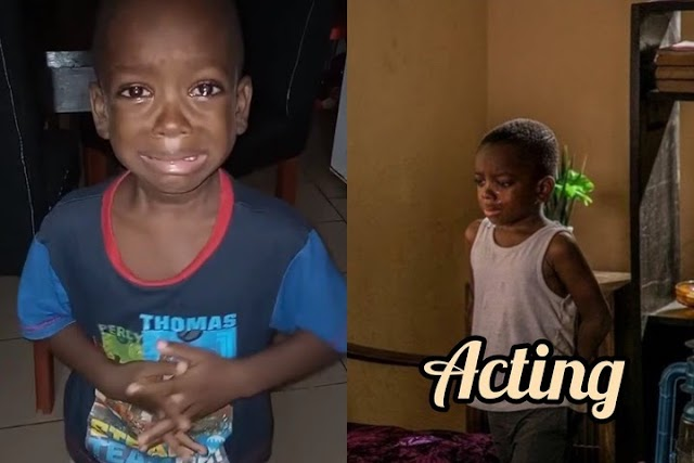 Remember Mummy Calm Down Video Boy As Finally Become Nollywood Kid Actor – The Success Story Of 5 Years Old Boy (Photos)